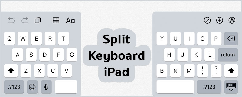 Use Split Keyboard iPad