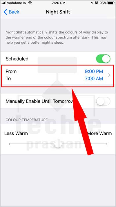 How to Configure Night Shift Mode